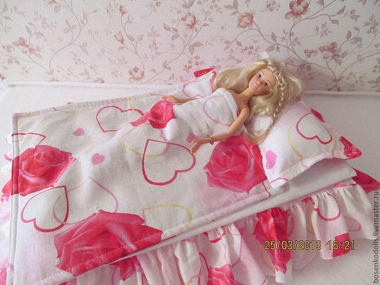 Постельное белье своими руками для куклы барби