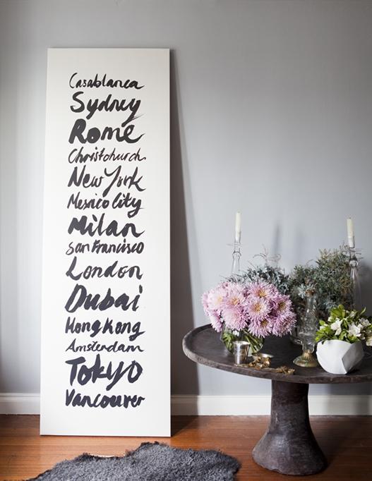Мысли на виду! (или 60 идей декора стен с помощью слов, букв и цифр), фото № 48