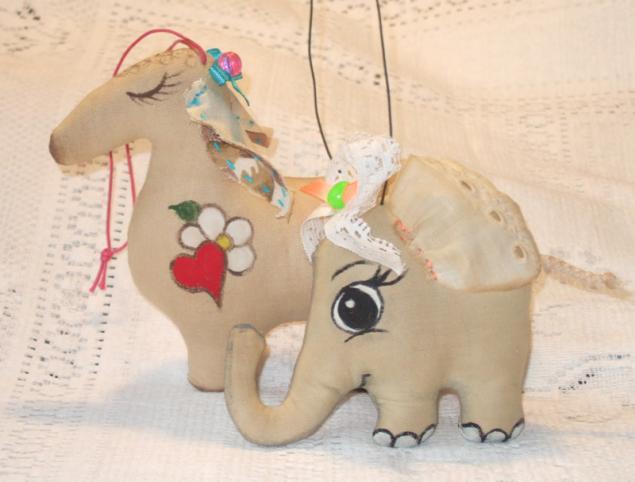 чердачная кукла, овечка, текстильная игрушка, подарок, подарок на новый год, кофейная игрушка