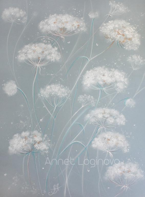 пастель, снег, снежный, снежные картины, пастельные картины