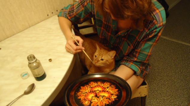 кот, рыжий, роспись, участие