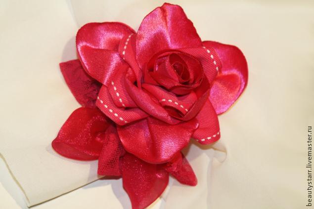 цветок из ткани, ирина уварова шляпки, креативный подарок