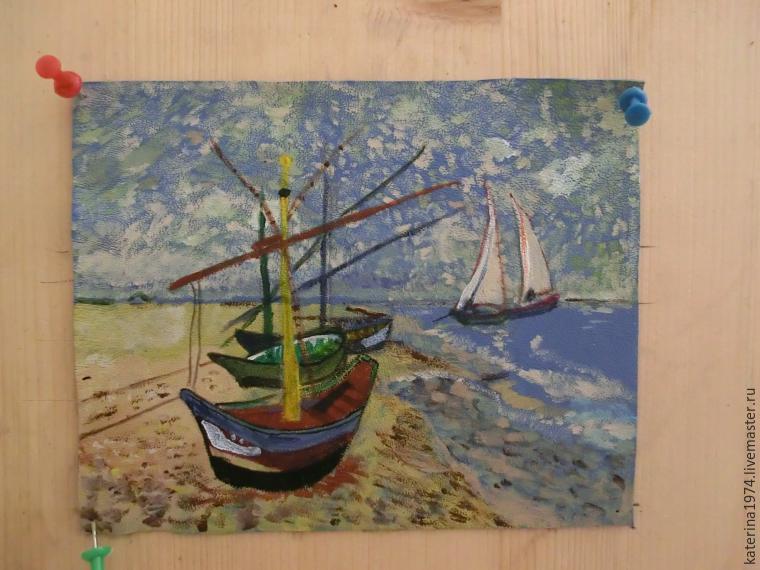 Ван гог лодки в море рисунок