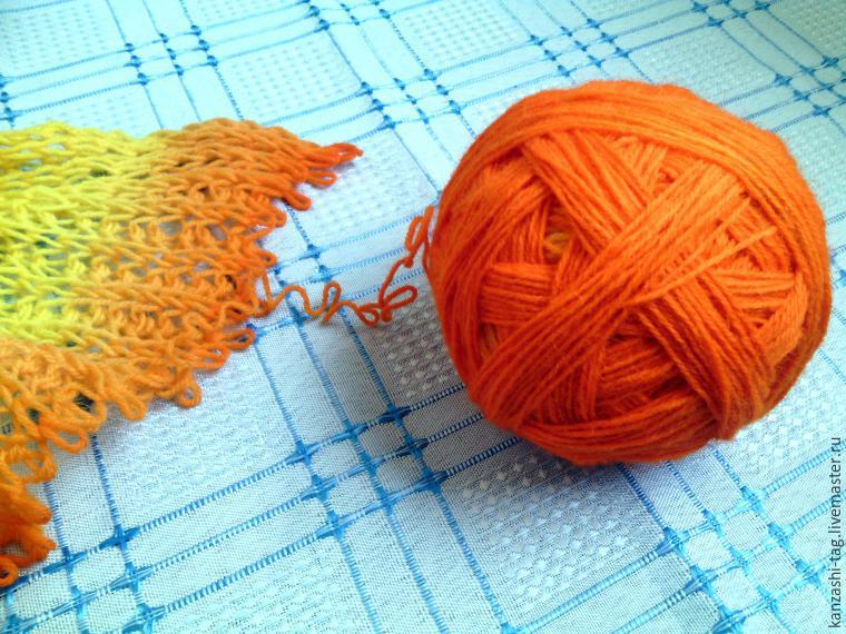 Красим старый шарф с помощью красителей для яиц, фото № 16