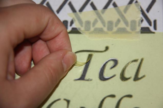 Как сделать трафарет для букв своими руками