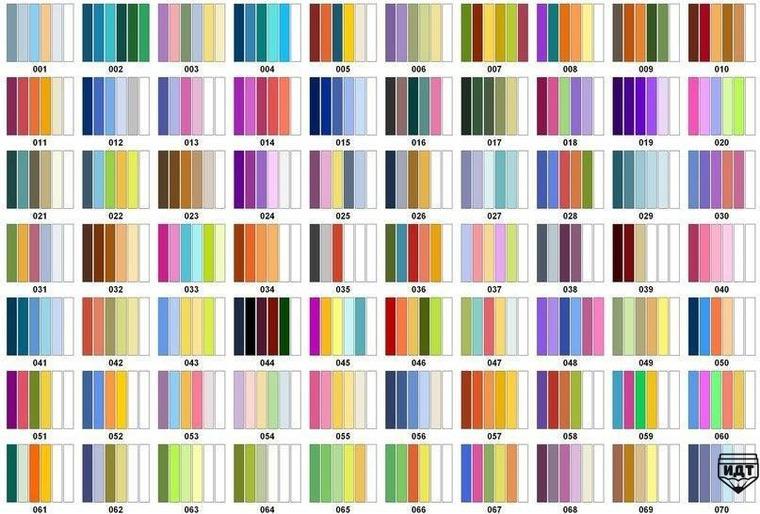 Переходящие цвета в вязании