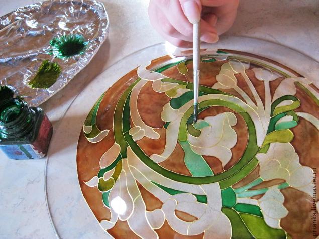 Воплощаем модерн в росписи по стеклу., фото № 14