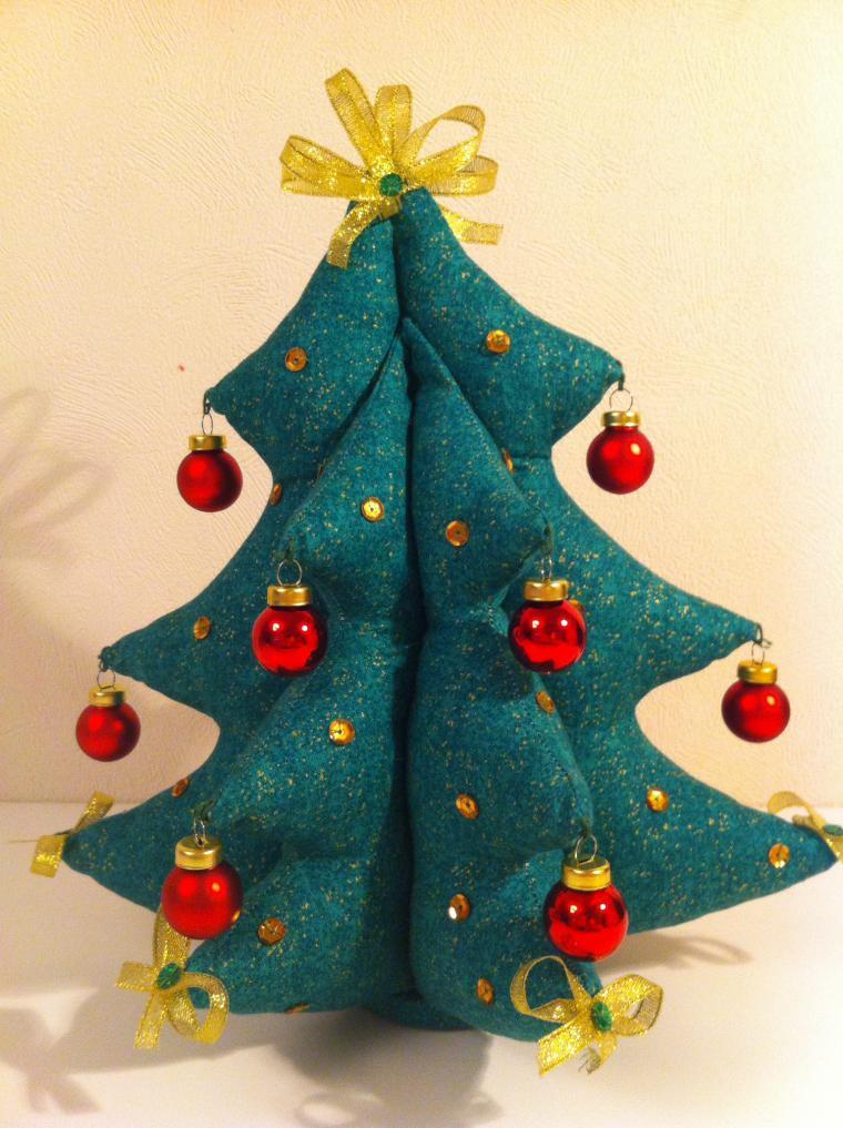 Новогодняя елка текстильная - Ярмарка Мастеров - ручная работа, handmade