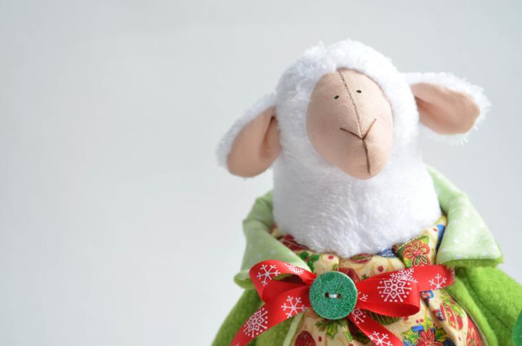 овечка, сшить овечку, новогодний сувенир, овца