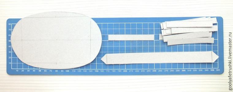 Овальная корзинка из картона