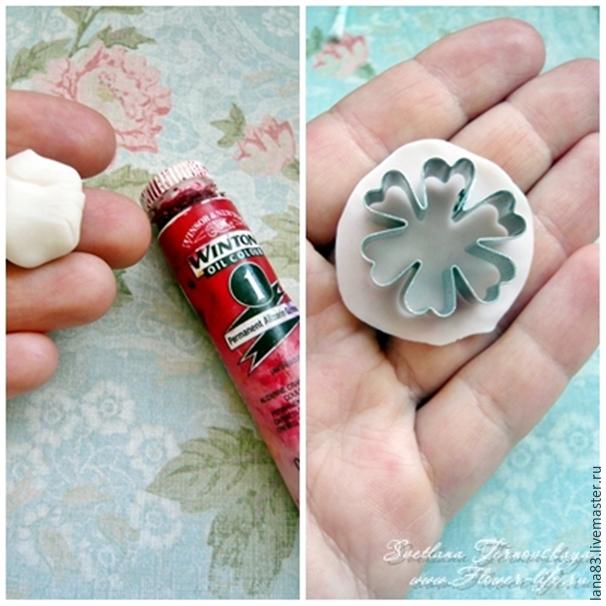Лепим веточку сакуры из полимерной глины, фото № 3