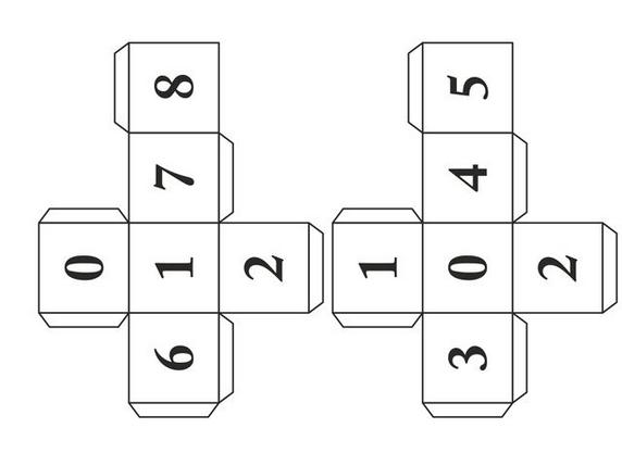 Вечный календарь кубиками своими руками 12