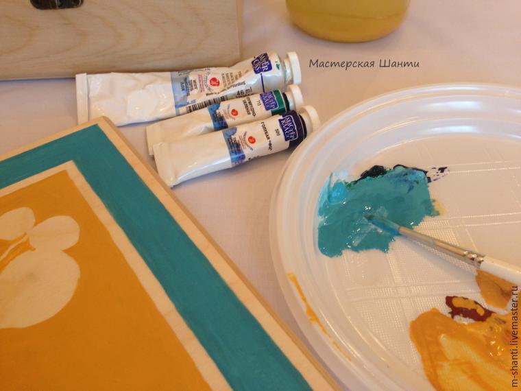 Расписываем яркую шкатулку-развивайку для детей, фото № 11
