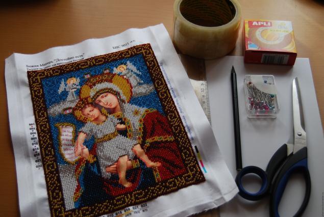 Вышивка крестом натяжка