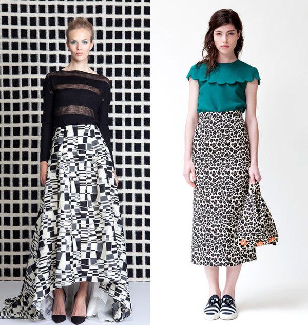 Модные цвета юбок венса-лето 2014