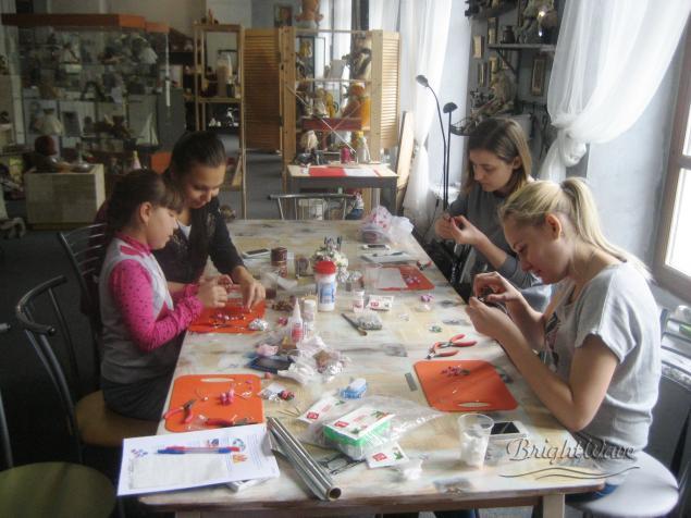 мастер-класс пластика, полимерная глина, обучение украшения москва
