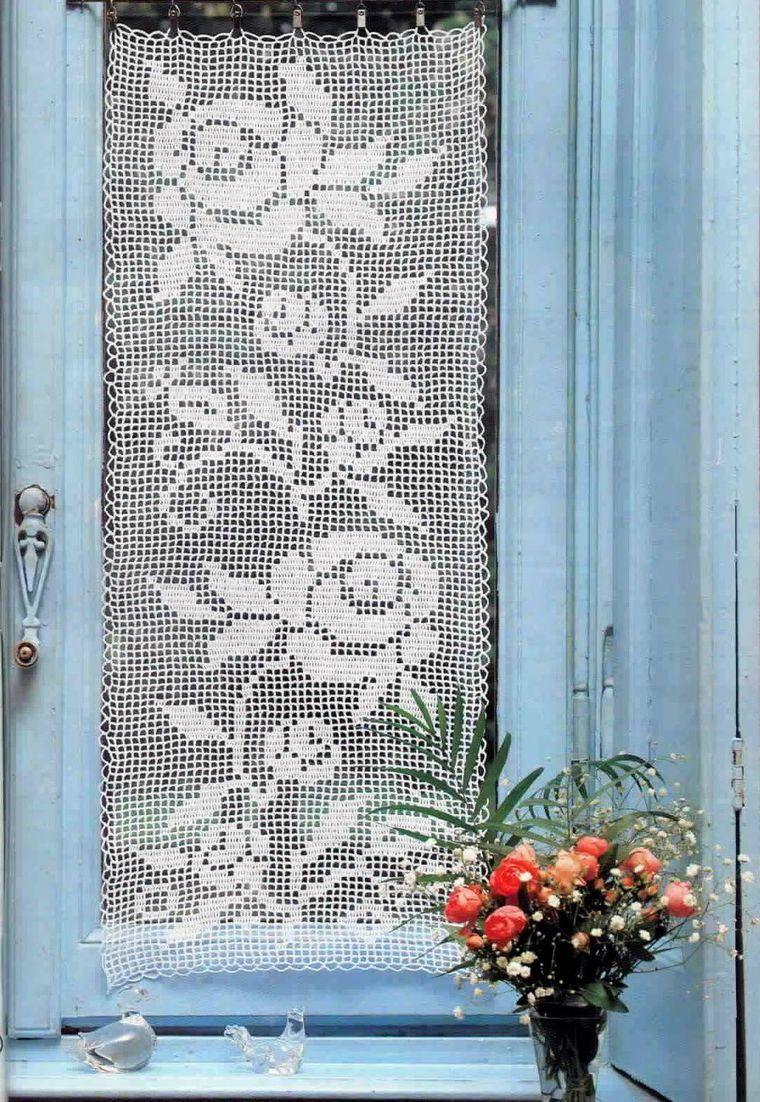 фото занавесок филейное вязание пику большинству