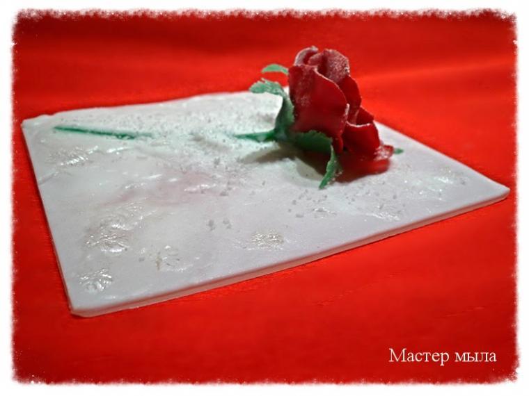 новогодние подарки, цветы из мыла