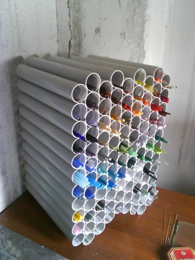 Полка из пластиковых труб пвх своими руками