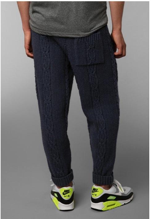 вязаные брюки, необычное
