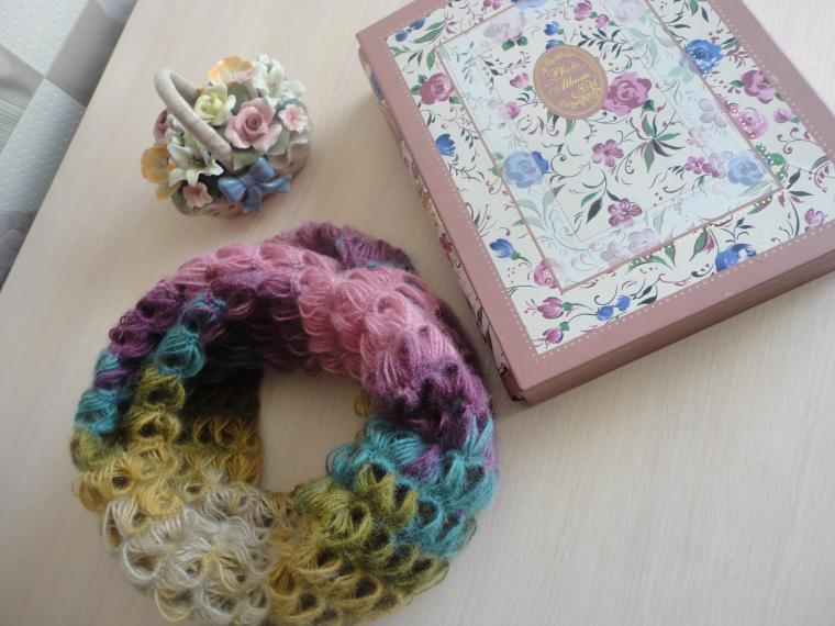 снуд вязаный, снуд женский, шарф вязаный, шарфик
