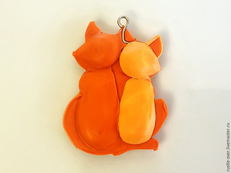 Modeling A Pendant Foxes in Love, фото № 10