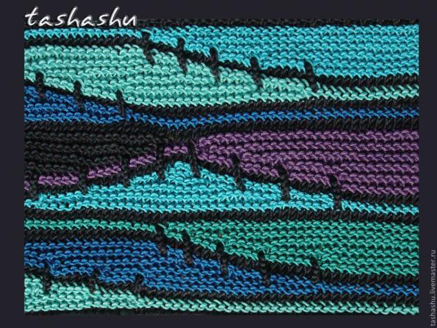 """针织教程:""""残存纱线的利用""""(波纹编织) - maomao - 我随心动"""