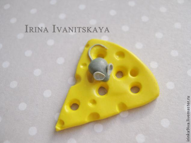 DIY Cheese Earrings of Polymer Clay, фото № 11