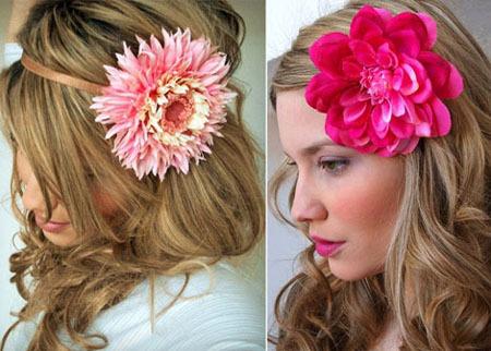 Цветок в волосах