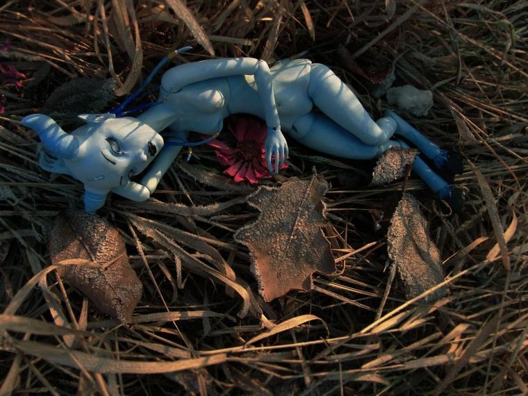 кукла из флюмо, литьевой пластик