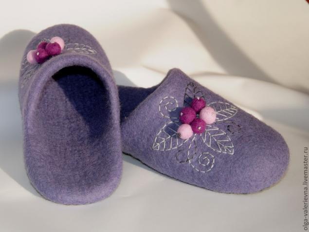 валяние из шерсти, войлочная обувь