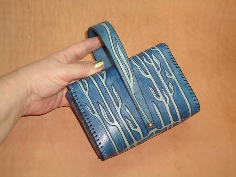 авторская сумка, сумка с декором, маленькая сумочка