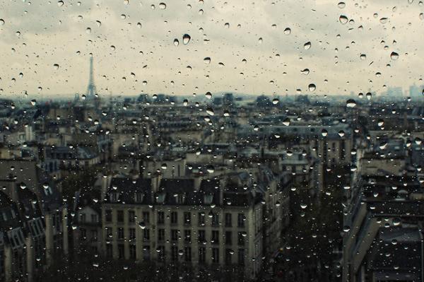 серый, зонтик