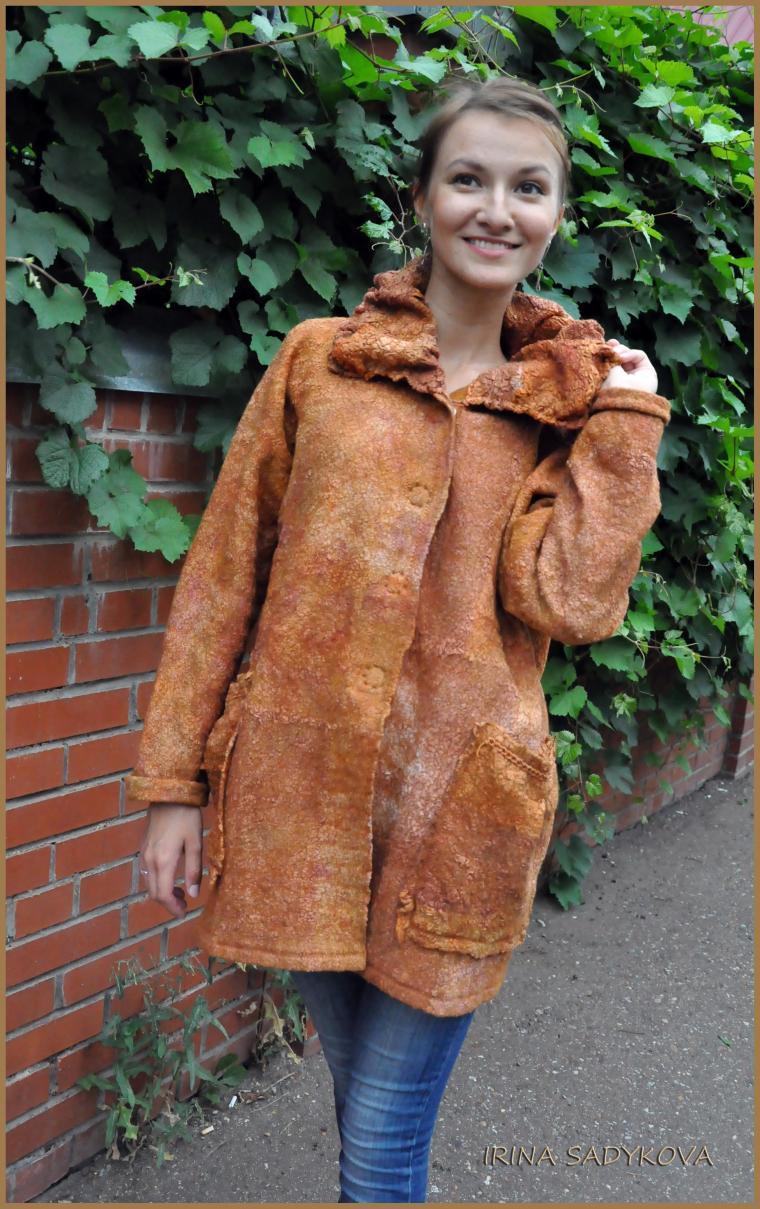 пальто валяное