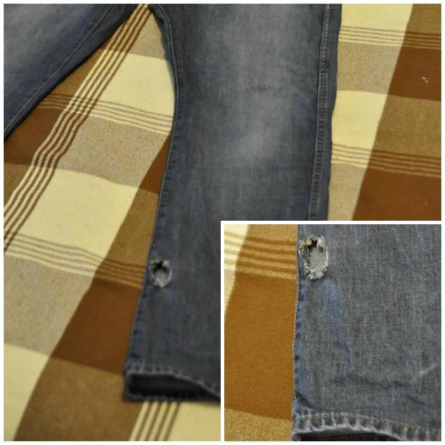Как сделать заплатку на шортах сзади