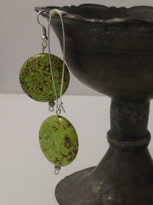 камень, серьги, ожерелье из камня