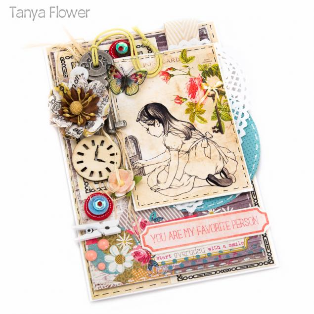 таня флауэр, alice, детская открытка, публикация в журнале