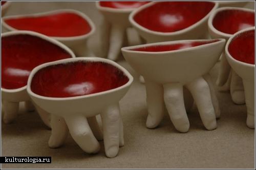 Скульптуры с руками и языками от Ронит Баранги (Ronit Baranga) из Израиля
