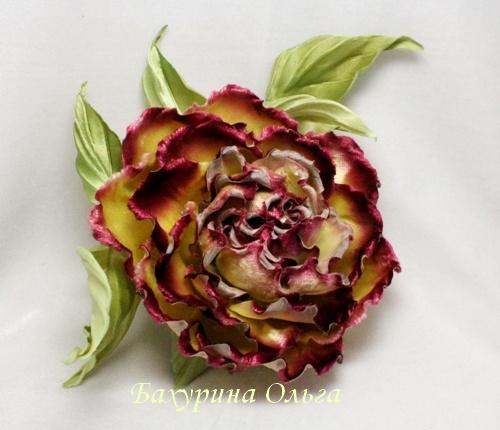 брошь-цветок, цветы ручной работы, обучение цветоделию, паяльник, мастер-класс