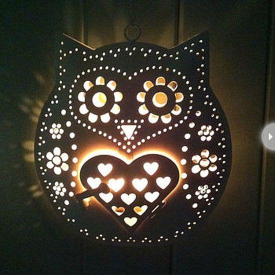 owl-decor-candle-holder