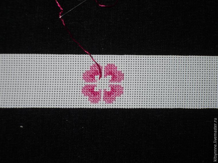 Как сделать браслет с вышивкой «Весеннее настроение», фото № 3