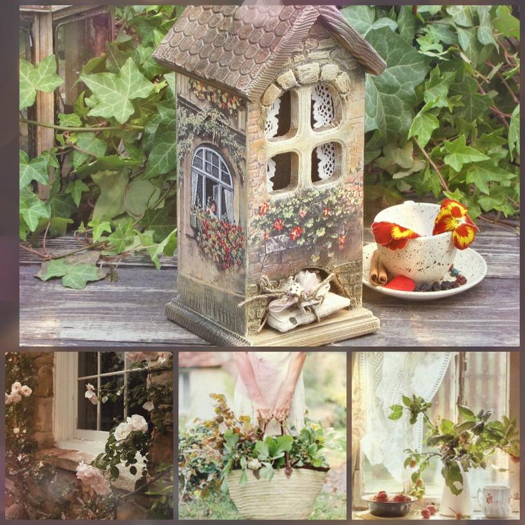 Декупаж картинки на чайный домик