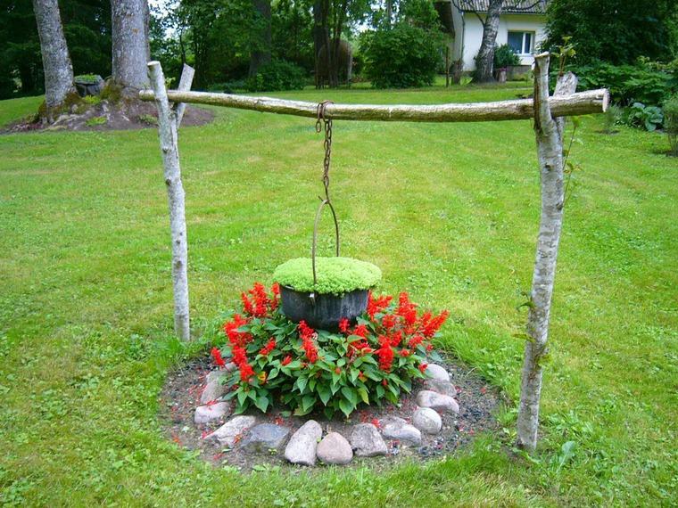Деревянные цветники и клумбы своими руками на даче фото