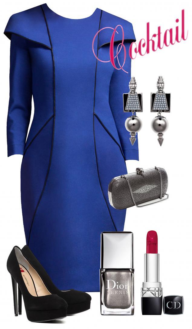платье, синий, стиль, семинар, красота, тенденции, модные тенденции, pavocreations, праздник