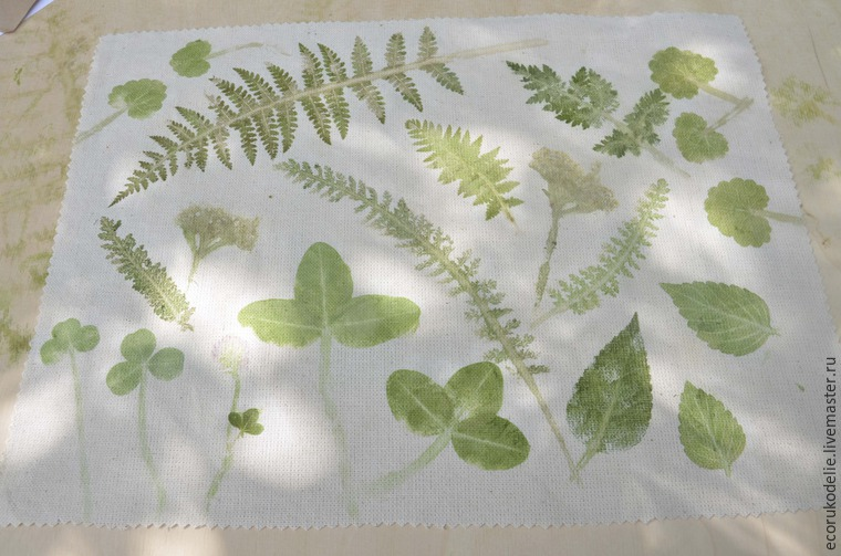 How to Make Plant Prints on Fabric, фото № 13