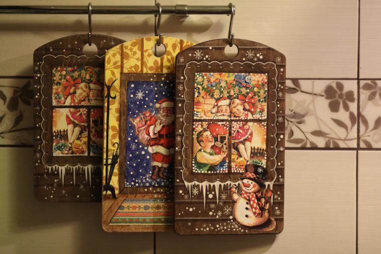 новыйгод, подарок, кухонная утварь, кухня, дизайн, декупаж, атмосфера, подарок бабушке