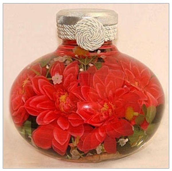 Бутылки с цветами своими руками