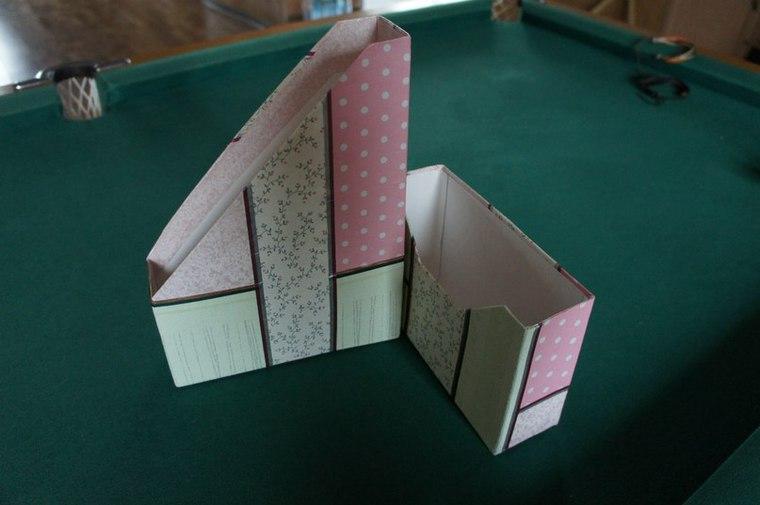 Лоток из картона для бумаг своими руками 19