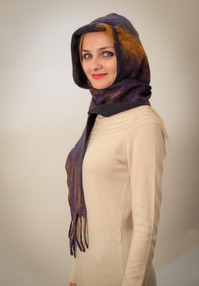 мастер-класс, валяный шарф