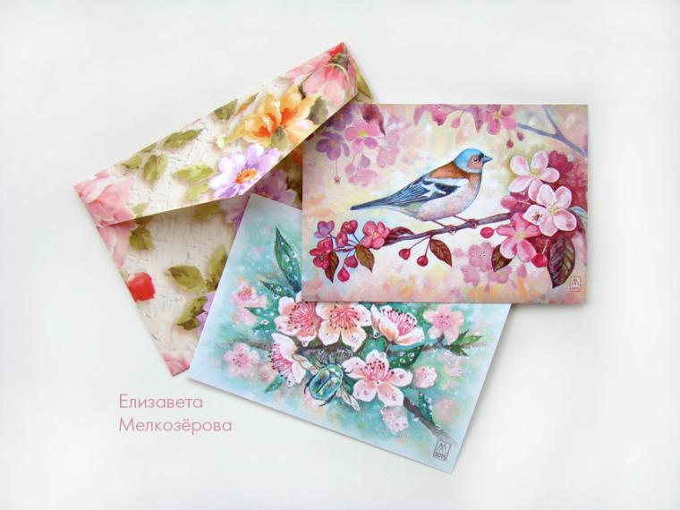 почтовые открытки, зеленый, травы